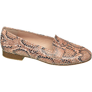 Loafer in Rosa mit Animal-Print