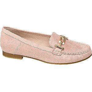 Loafer in Rosa mit Velours-Optik