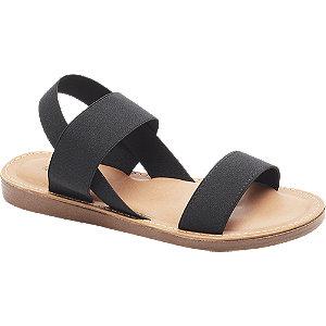 Sandalen in Schwarz mit Slingback