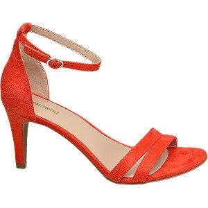 Sandaletten mit Fessel in Orange