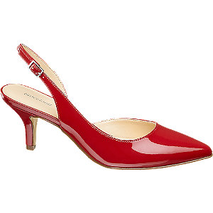 Sling Pumps in Rot
