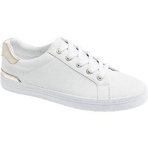 Sneaker in Weiß mit Metallic-Details