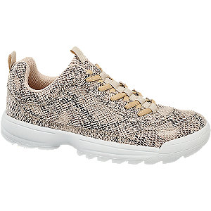 Hüllő mintás női sneaker