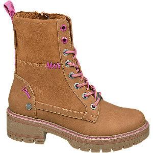 Hnedá dievčenská členková obuv Bench so zipsom a Tex membránou