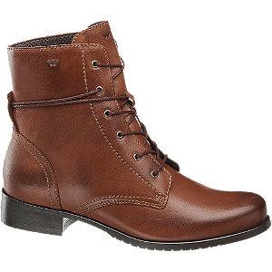 Hnedá kožená šnurovacia obuv Wojas