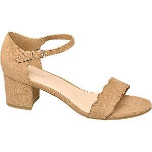 Hnedé sandále na podpätku Graceland