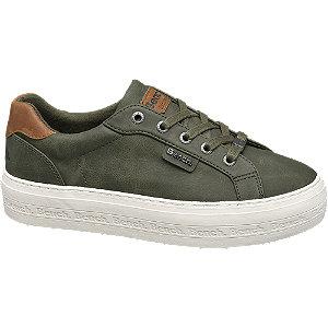 Keki színű platform sneaker