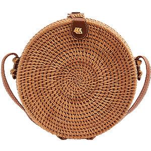 Kerek fonott női táska