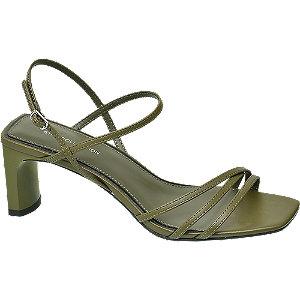 Khaki sandály na podpatku Rita Ora