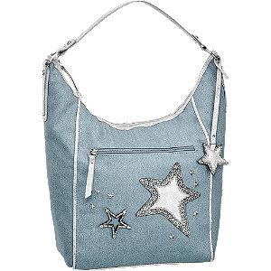 Kék csillagos női kézi táska