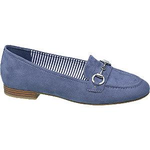 Kék loafer csíkokkal