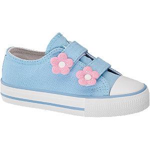 Kék virágos lány félcipő