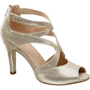 Kožené metalické sandále