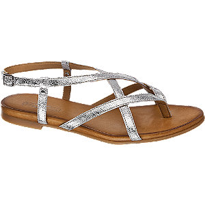 Kožené metalické sandály