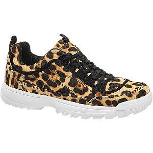 Leopárd mintás női sneaker