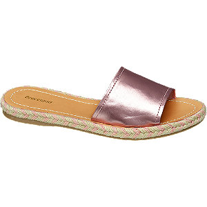 Metalické pantofle Graceland růžové