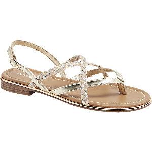 Metalické zlaté sandály Graceland