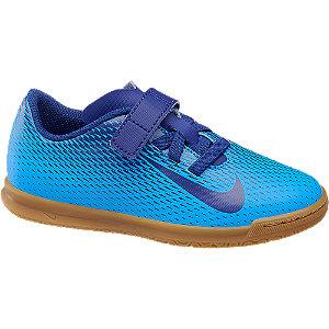 Modré halové kopačky na suchý zips Nike Bravata IC