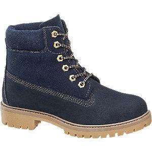 Modrá kožená šněrovací obuv Landrover