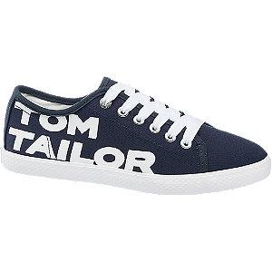 Modré plátěné tenisky Tom Tailor