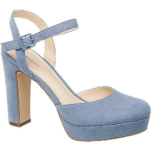 Modré sandále na platforme Graceland