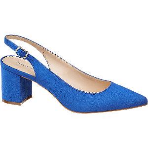 Modré slingback lodičky Graceland