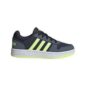 Modré tenisky Adidas Hoops 2.0 K