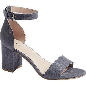 Modro-šedé sandály na podpatku Graceland