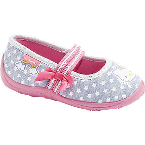 Modro-ružové detské prezuvky Hello Kitty