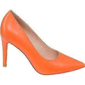 Narancssárga magassarkú körömcipő