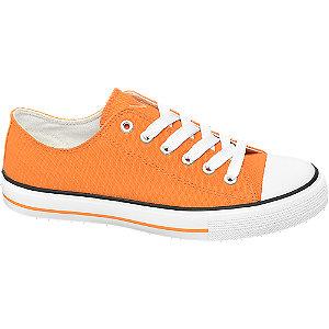 Oranžové plátěné tenisky Vty