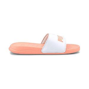 Oranžovo-bílé pantofle Puma Popcat
