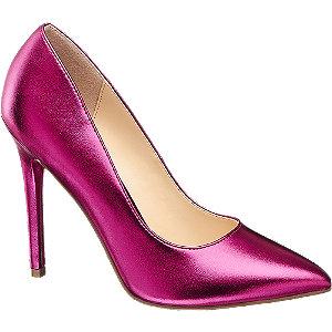 Pink csillogós tűsarkú körömcipő
