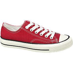 Piros női vászoncipő