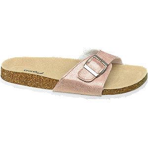 Rosegold pántos papucs