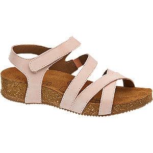 Růžové kožené sandály 5th Avenue