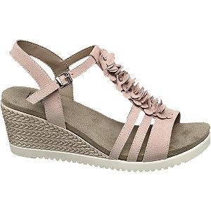 Růžové komfortní sandály na klínku Easy Street