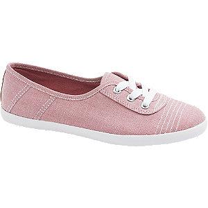 Růžové plátěné tenisky Graceland