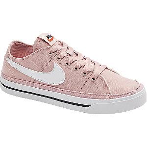 Růžové plátěné tenisky Nike Court Legacy