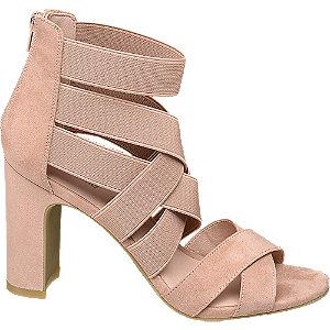 Ružové sandále na podpätku Graceland