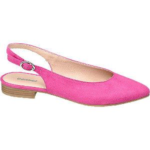 Ružové slingback baleríny Graceland