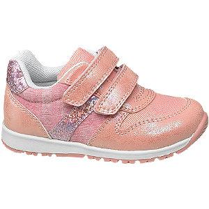 Rózsaszín csillámos lány cipő