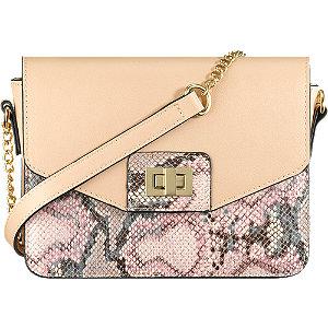 Rózsaszín hüllő mintás táska