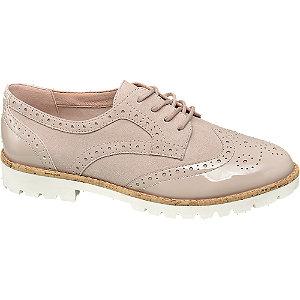 Rózsaszín lakk hatású dandy cipő