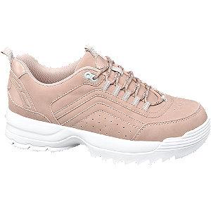 Rózsaszín női chunky sneaker