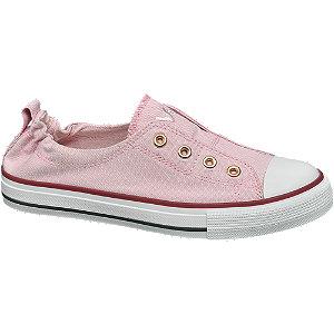 Rózsaszín női vászoncipő