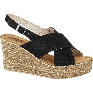 Semišové sandále na klinovom podpätku