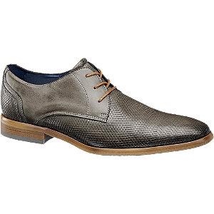 Sivá kožená spoločenská obuv AM SHOE.