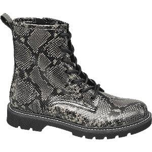 Sivá šnurovacia obuv so zipsom a zvieracím vzorom Catwalk