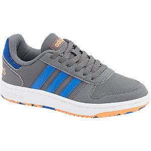 Sivé tenisky Adidas Hoops 2.0 K